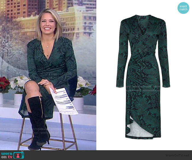 Snake Print Dress by Atlein worn by Dylan Dreyer  on Today