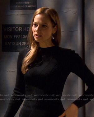 Ava's black diamond knit dress on Days of our Lives