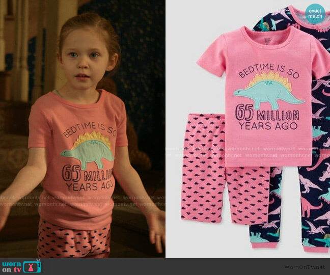 Dino Pajama Set by Target worn by Presley Schrader on Shameless
