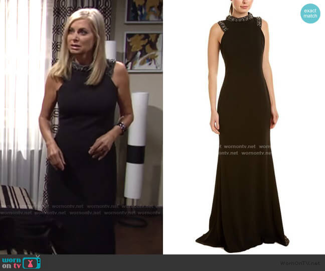 Embellished Gown by Badgley Mischka worn by Ashley Abbott (Eileen Davidson) on The Young & the Restless