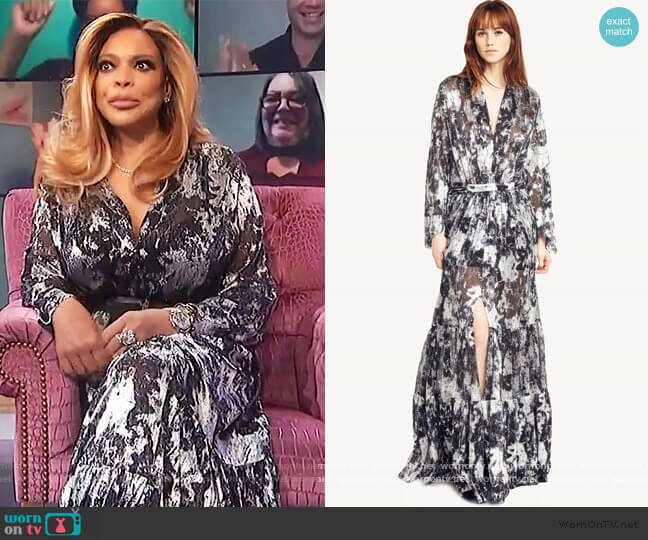 Hendrix Dress by Ba&sh worn by Wendy Williams  on The Wendy Williams Show