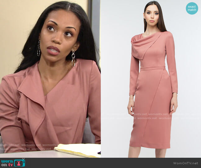 BGL 7005/17027 Dress worn by Amanda Sinclair (Mishael Morgan) on The Young & the Restless
