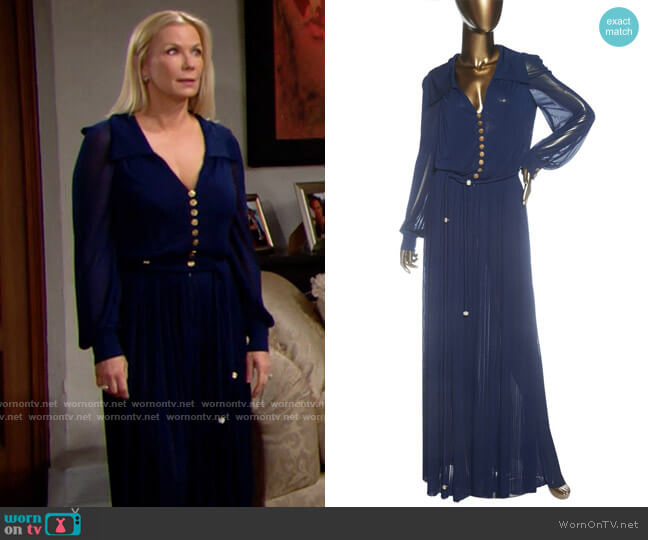 Chanel Pleated Jumpsuit worn by Brooke Logan (Katherine Kelly Lang) on The Bold & the Beautiful