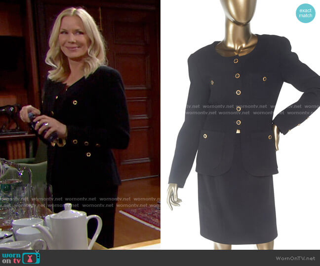 Chanel Vintage Wool Jacket worn by Brooke Logan (Katherine Kelly Lang) on The Bold & the Beautiful