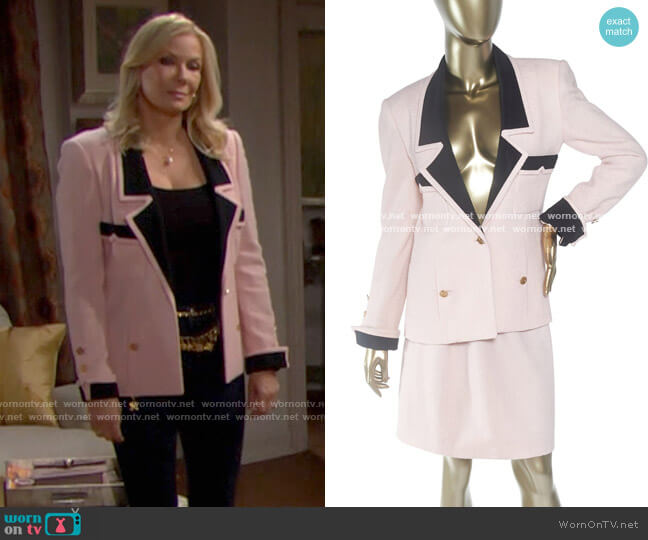 Chanel Vintage JAcket worn by Brooke Logan (Katherine Kelly Lang) on The Bold & the Beautiful