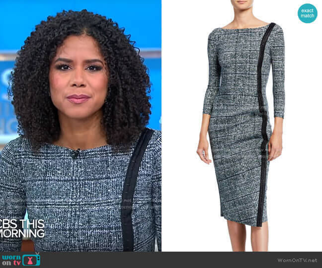 Chiara Boni La Petite Robe Rosmarijn Dress worn by Adriana Diaz  on CBS This Morning