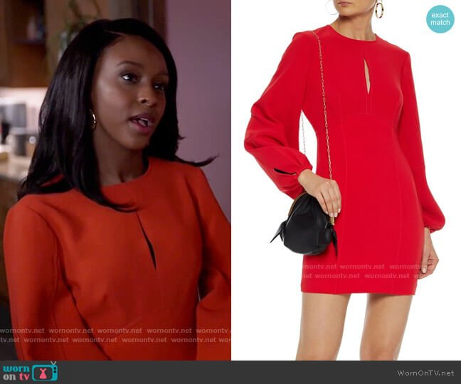 Cinq a Sept Danica Dress worn by Karen Mott (Ebony Obsidian) on Tyler Perrys Sistas
