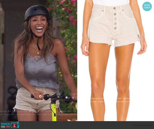 Annabelle Cut Off Short by Citizens of Humanity worn by Tayshia Adams  on The Bachelorette