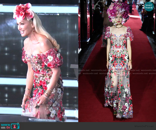 The Secret Shows Collection by Dolce & Gabbana worn by Gwen Stefani  on The Voice