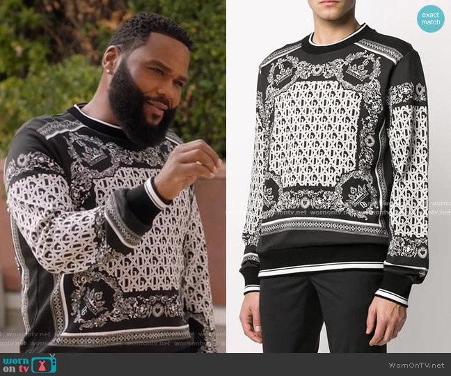 Bandana Print Sweatshirt by Dolce & Gabbana worn by Andre Johnson (Anthony Anderson) on Blackish