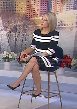 Dylan's striped elbow-sleeve dress on Today