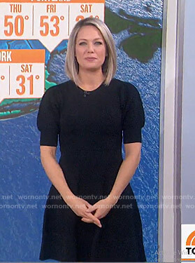 Dylan's black textured dress on Today