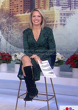 Dylan's green snake print dress on Today