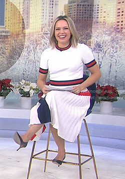 Dylan's white and red contrast trim dress on Today