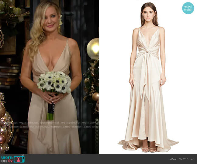 Fame & Partners Lake Gown worn by Sharon Collins (Sharon Case) on The Young & the Restless