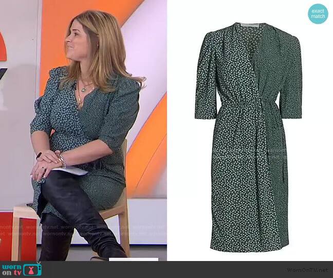 Flowers & Dots Printed Wrap Dress by See by Chloe worn by Jenna Bush Hager  on Today