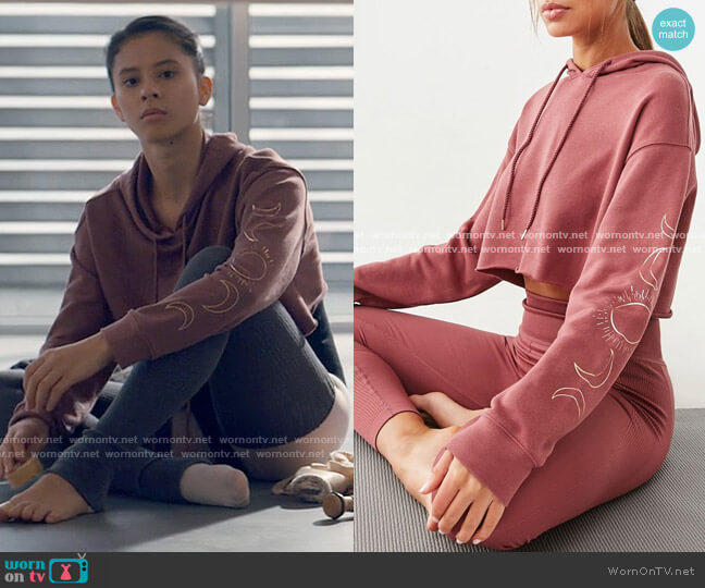 Forever 21 Active Moon Graphic Hoodie worn by June Park (Daniela Norman) on Tiny Pretty Things