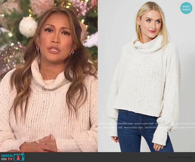 Be Yours Turtleneck Sweater by Free People worn by Carrie Inaba  on The Talk