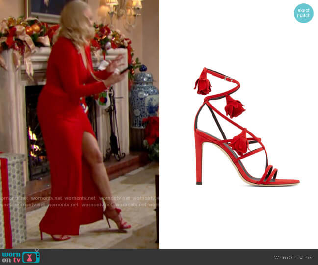 Giuseppe Zanotti Danse Du Feu Sandals worn by Brooke Logan (Katherine Kelly Lang) on The Bold & the Beautiful