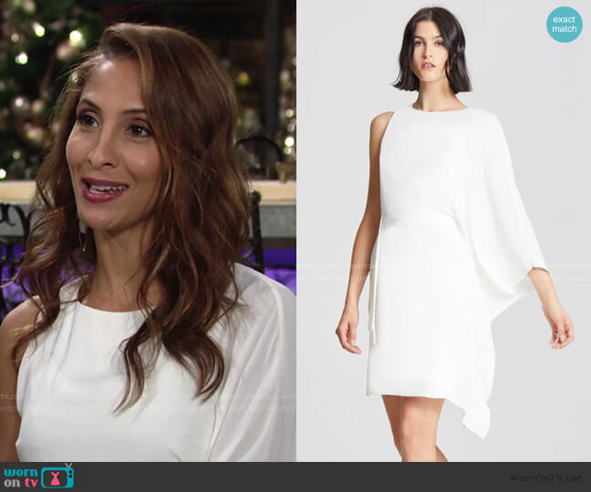Flowy Sleeve Dress by Halston worn by Lily Winters (Christel Khalil) on The Young & the Restless