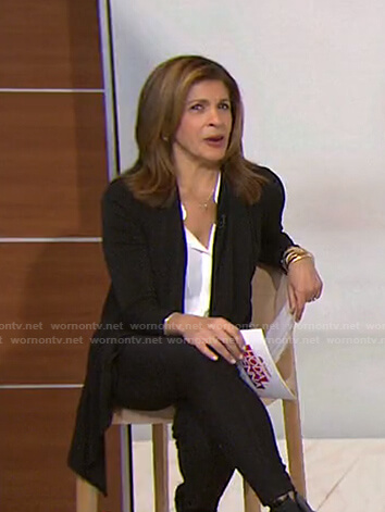Hoda's black draped jacket on Today