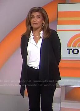 Hoda's black draped jacket on Today