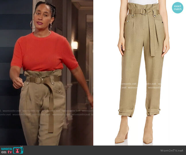 Mohon Paper Bag Cropped Pants by Iro worn by Rainbow Johnson (Tracee Ellis Ross) on Blackish