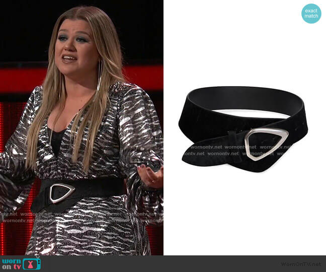 Linka 80 Genuine Calf Hair Belt by Isabel Marant worn by Kelly Clarkson  on The Voice