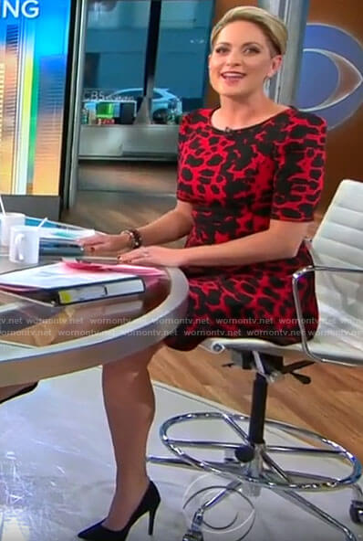 Jamie Yuccas's red leopard print dress on CBS This Morning