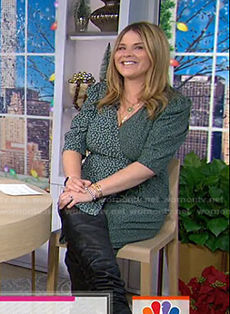 Jenna's green floral wrap dress on Today
