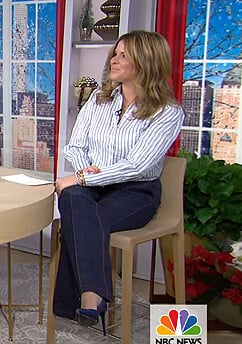 Jenna's white and blue striped blouse on Today