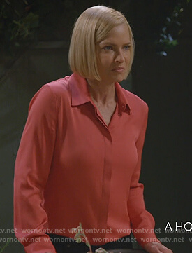 Jill's red blouse on Mom