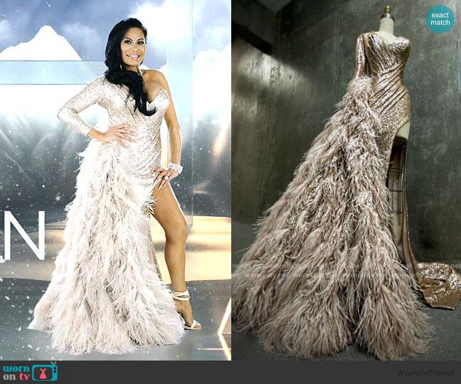 Custom Dress by JXA Fashion worn by Jen Shah  on The Real Housewives of Salt Lake City