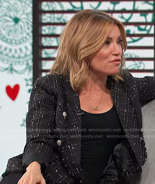 Kit's black tweed blazer on Access Hollywood