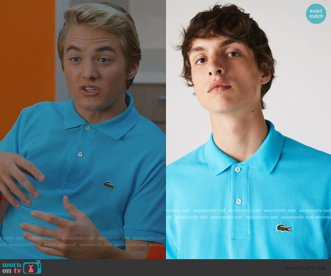 Classic Fit Polo by Lacoste worn by Mac Morris (Mitchell Hoog) on Saved By The Bell