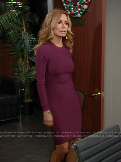 Lauren's purple bandage dress on The Young and the Restless