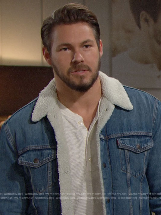 Liam's denim serpa jacket on The Bold and the Beautiful