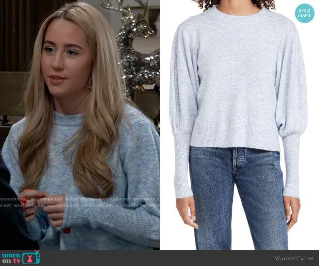 Line & Dot Jodie Sweater worn by Josslyn Jacks (Eden McCoy) on General Hospital