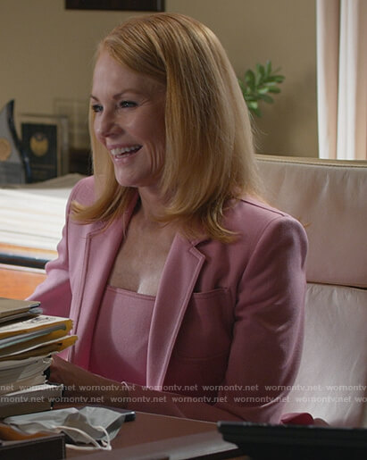 Lisa's pink blazer and dress on All Rise