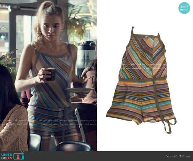 M Missoni Stripe Romper worn by Bette Whitlaw (Casimere Jollette) on Tiny Pretty Things