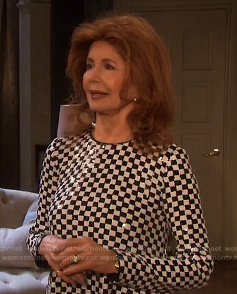 Maggie's sequin checkerboard dress on Days of our Lives