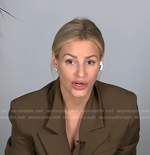 Morgan's khaki blazer on E! News Daily Pop