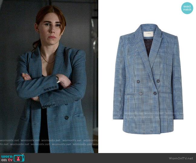 Munthe Satorial Jacket worn by Annie (Zosia Mamet) on The Flight Attendant