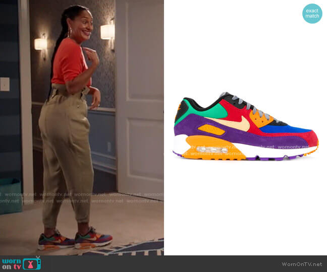 Air Max 90 Viotech Sneakers by Nike worn by Rainbow Johnson (Tracee Ellis Ross) on Blackish