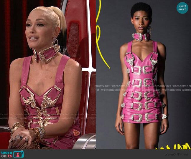 Charro Dress by No Name Studio worn by Gwen Stefani  on The Voice
