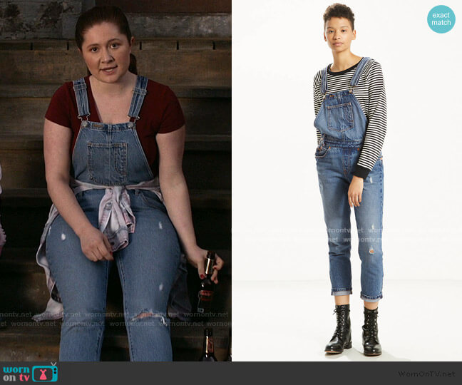 Original Overall Jeans by Levi's worn by Debbie Gallagher (Emma Kenney) on Shameless