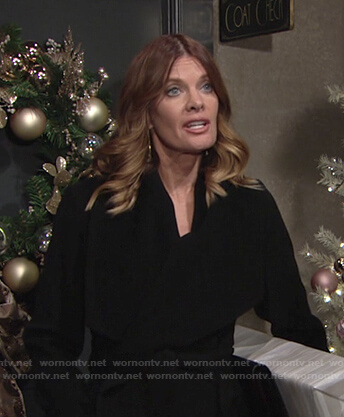 Phyllis's black wrap coat on The Young and the Restless
