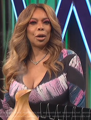 Wendy's chevron tie dye bodysuit on The Wendy Williams Show
