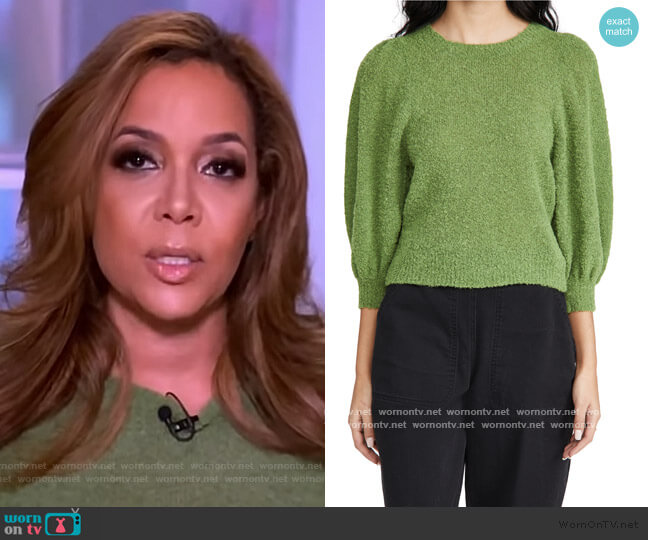 Forbell Alpaca Top by Rachel Comey worn by Sunny Hostin  on The View