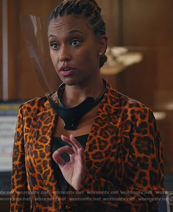 Rachel's leopard print blazer on All Rise